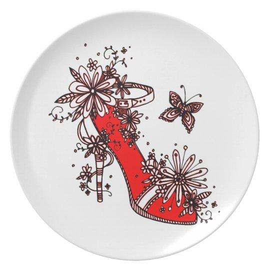 Shoe Dinner Plate