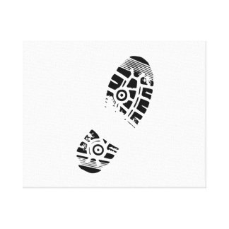 Shoe Foot Print Stretched Canvas Prints