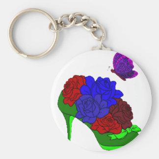 Shoe garden basic round button key ring