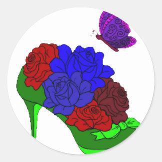 Shoe garden round sticker