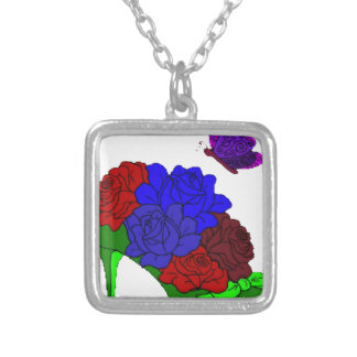 Shoe garden silver plated necklace