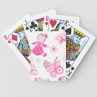 Shoe house & doll bicycle playing cards