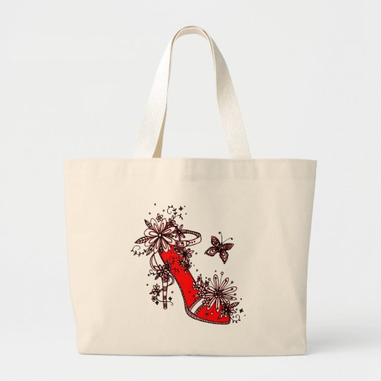 Shoe Large Tote Bag