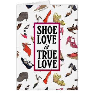 Shoe love blank greeting card