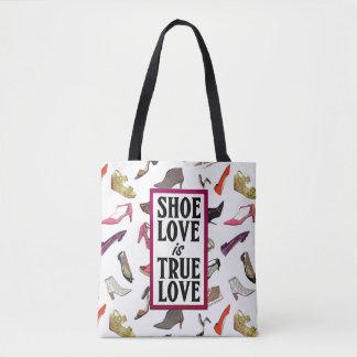 Shoe Love is True Love trendy shoes design Tote Bag