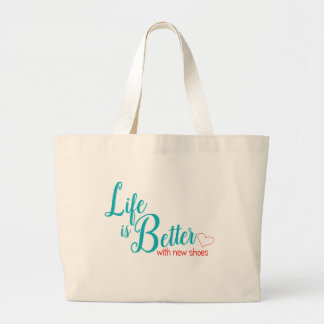 Shoe Lover Funny Tote Bag in Teal and Red