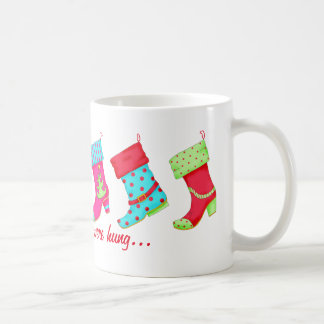 Shoe Lover Modern Boots Christmas Stockings Coffee Mugs