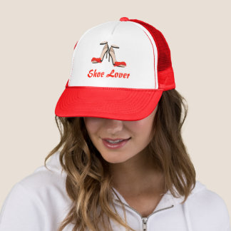 Shoe Lover Red Heels Trucker Hat