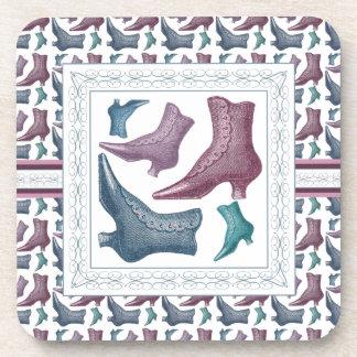 Shoe Lover, Tap Dancer, Vintage Victorian Boots Coaster