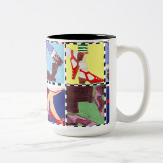 Shoe Lovers Two-Tone Coffee Mug