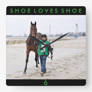 Shoe Loves Shoe  by Friesen Fire Square Wall Clock