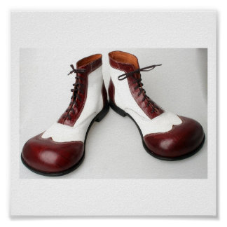 Shoe of clown poster