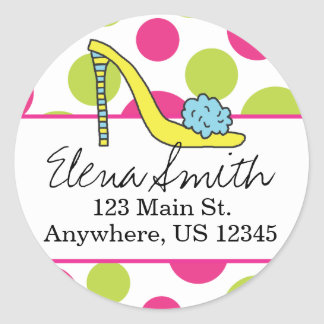 Shoe Polka Dot Address Stickers