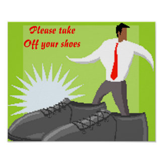 Shoe poster-Please take Off your shoes Poster