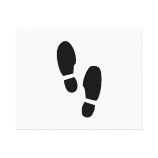 Shoe Prints Stretched Canvas Prints