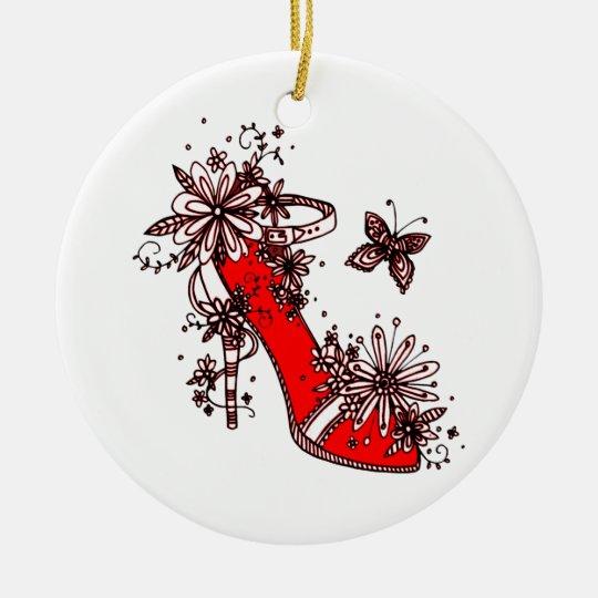 Shoe Round Ceramic Decoration
