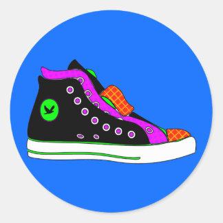 shoe round sticker