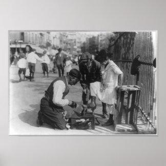 Shoe Shine Peddlers New York City 1911 Print