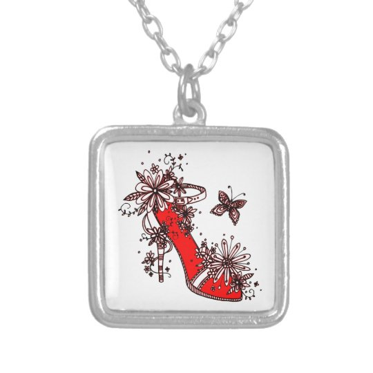 Shoe Silver Plated Necklace