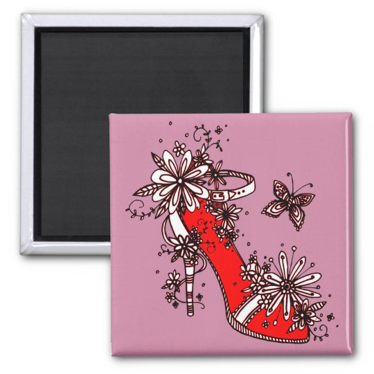 Shoe Square Magnet