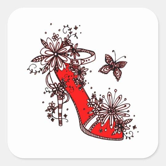 Shoe Square Sticker
