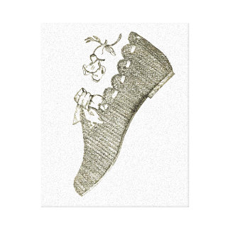Shoe Stretched Canvas Print