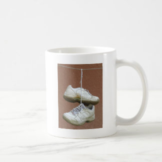 Shoe Tossing - Shoes Hanging From Power Lines.jpg Basic White Mug
