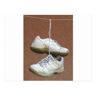 Shoe Tossing - Shoes Hanging From Power Lines.jpg Postcard