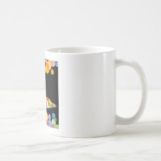 Shoe with colorful circles basic white mug