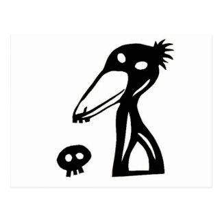 shoebill, balaeniceps rex and shoebird postcard