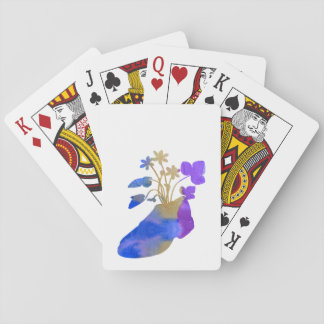 Shoeflowers Playing Cards