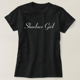 Shoelace Girl - White - Pegasus- T-Shirt