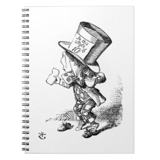 Shoeless Mad Hatter Spiral Notebook