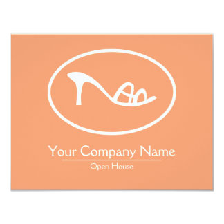 Shoes and Accessories Logo 11 Cm X 14 Cm Invitation Card