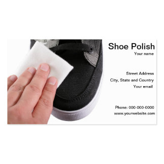 Shoes cleaner polish business card