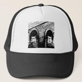 Shoes design trucker hat
