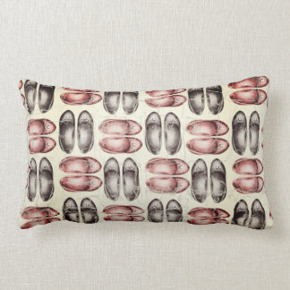 Shoes fashion design, retro grunge lumbar cushion