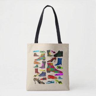 Shoes Fashion Love Colorful Illustration Tote Bag