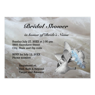 Shoes, Garter Belt and Lace Bridal Shower Invite