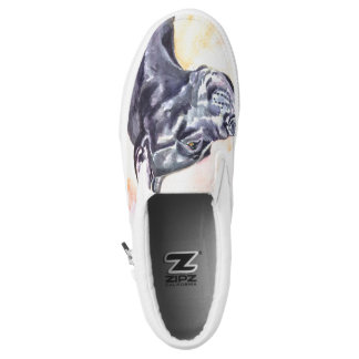 Shoes Great Dane Black Cropped ears Printed Shoes