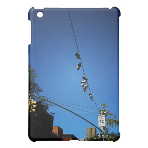 Shoes Hanging from a Power Line in Alphabet City iPad Mini Case