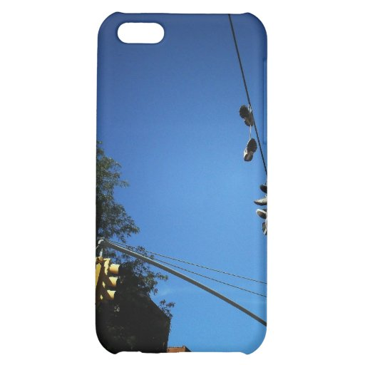 Shoes Hanging from a Power Line in Alphabet City iPhone 5C Cases