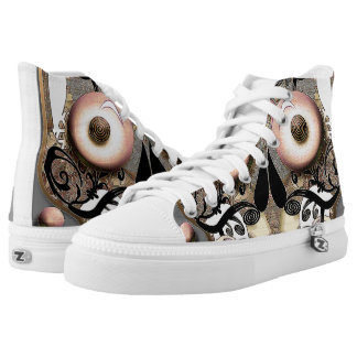 Shoes High Tops, Skull Printed Shoes