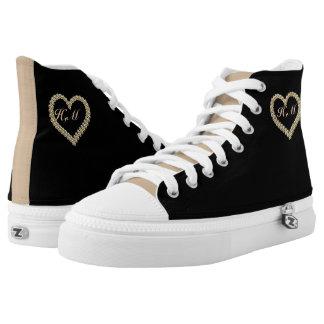 Shoes-HighTop ZIPZ® designed,unique custom sneaker Printed Shoes