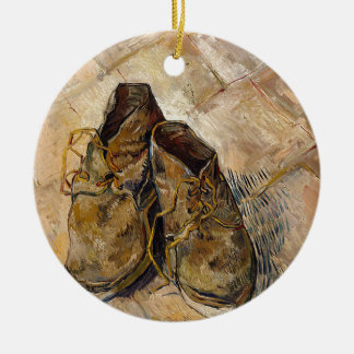 Shoes in Impressionist style Ceramic Ornament
