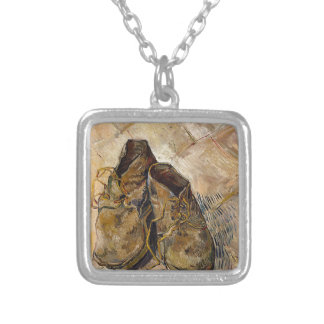 Shoes in Impressionist style Silver Plated Necklace
