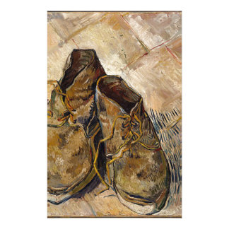 Shoes in Impressionist style Stationery