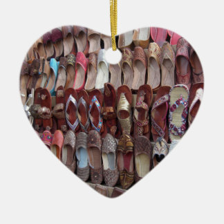 Shoes in India Ceramic Heart Decoration