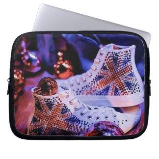 Shoes Merry Christmas_funda_10 Laptop Sleeve