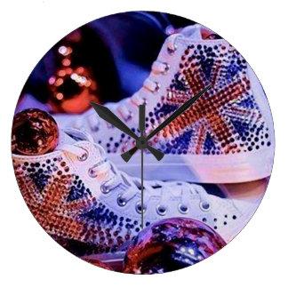 Shoes Merry Christmas_reloj Large Clock